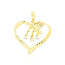 Anhänger Gold 375 Diamanten 0,012ct Herz - Black Friday Damen | Oro Vivo