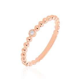 Damenring Roségold 585 Diamant 0,02ct - Black Friday Damen | Oro Vivo