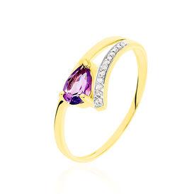 Damenring Gold 375 Amethyst Zirkonia - Ringe mit Stein Damen | Oro Vivo