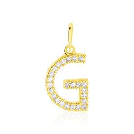 Anhänger Gold 375 Zirkonia Buchstabe G - Personalisierte Geschenke Damen | Oro Vivo