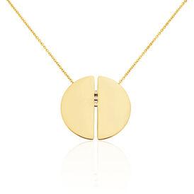 Damen Halskette Edelstahl Vergoldet Kristall - Black Friday Damen | Oro Vivo