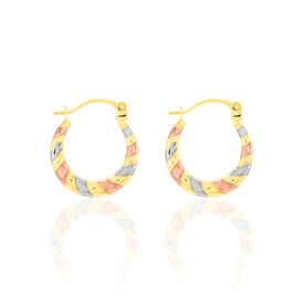 Damen Creolen Gold 375 Tricolor  - Creolen Damen | Oro Vivo