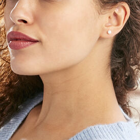 Damen Perlenohrringe Gold 375 Zuchtperle 4-4,5mm - Ohrstecker Damen | Oro Vivo