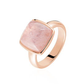 Damenring Silber 925 Rosé Vergoldet Glasstein - Ringe mit Stein Damen | Oro Vivo