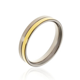 Boccia Damenring Titan Bicolor  - Ringe Damen   Oro Vivo