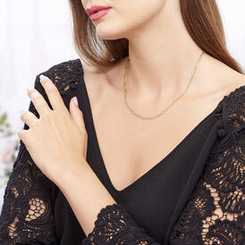 Damen Figarokette Gold 375 50cm - Ketten ohne Anhänger Damen   Oro Vivo