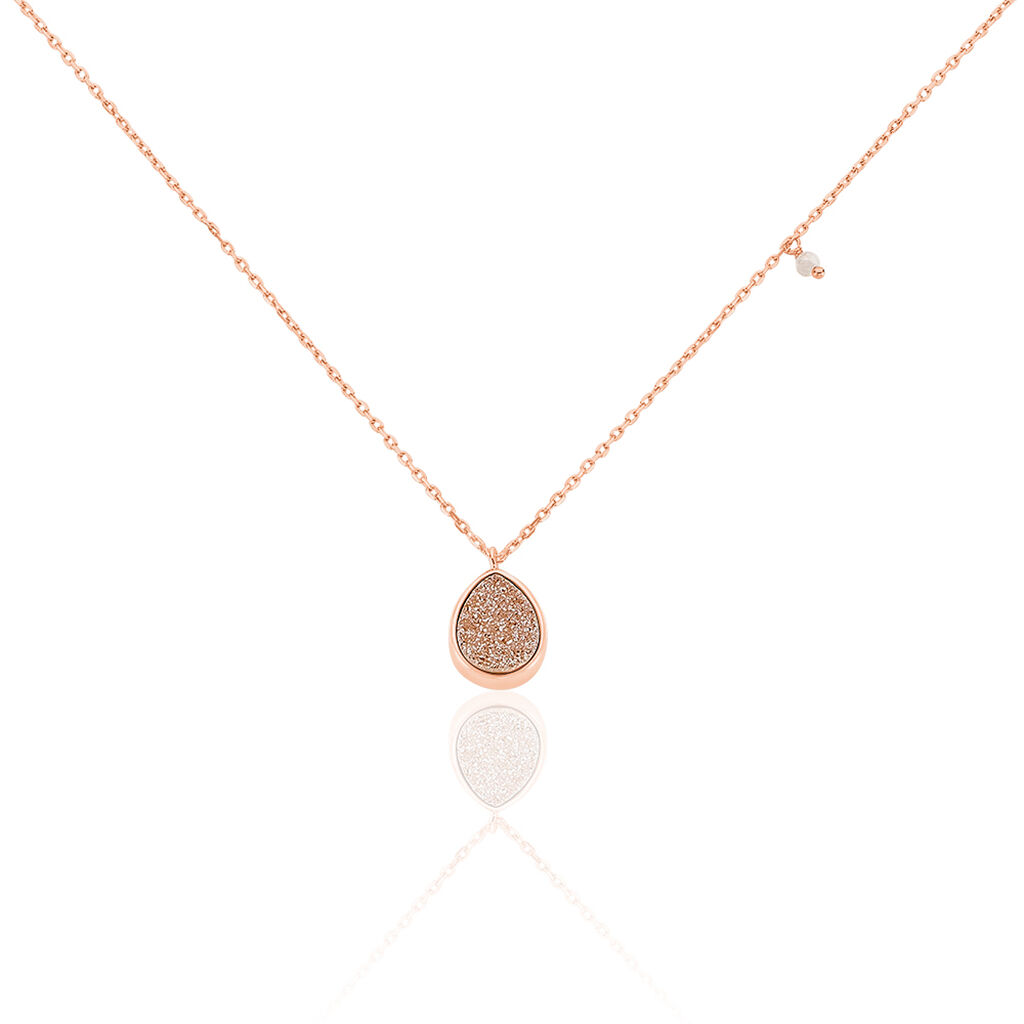 Damen Halskette Silber 925 Rosé Vergoldet Achat - Ketten mit Anhänger Damen | Oro Vivo