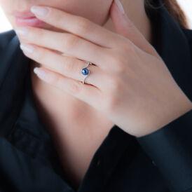 Damenring Weißgold 375 Zuchtperle Zirkonia - Ringe mit Stein Damen | Oro Vivo