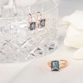 Damen Ohrhänger Silber 925 Rosé Vergoldet - Ohrhänger Damen   Oro Vivo