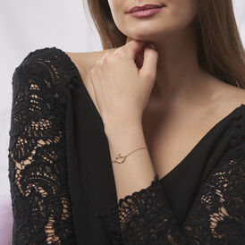 Damenarmband Vergoldet Zirkonia Doppelt Herz - Armbänder Damen | Oro Vivo