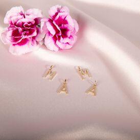 Anhänger Gold 375 Zirkonia Buchstabe M - Personalisierte Geschenke Damen | Oro Vivo