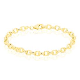 Damenarmband Erbskette Silber 925 Vergoldet  -  Damen   Oro Vivo