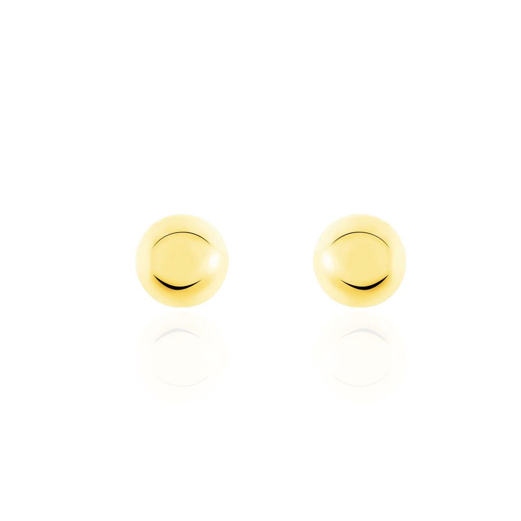 Damen Ohrstecker Gold 375 Kugel 4mm - Ohrstecker Damen   Oro Vivo