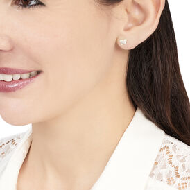 Damen Ohrstecker Gold 375 Kristall Schmetterling - Ohrstecker Damen | Oro Vivo