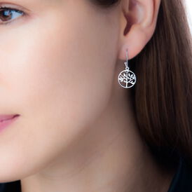 Damen Ohrhänger Lang Silber 925 Lebensbaum - Ohrhänger Damen | Oro Vivo