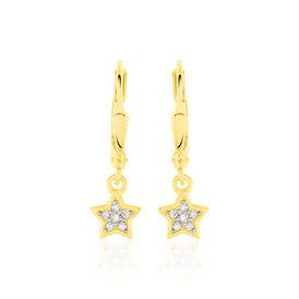 Kinder Ohrhänger Gold 333 Zirkonia Stern - Ohrhänger Kinder | Oro Vivo