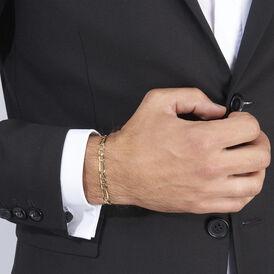 Herrenarmband Figarokette Gold 375  -  Herren | Oro Vivo