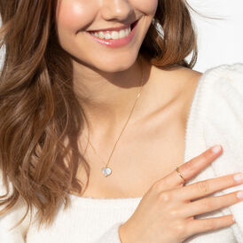 Damen Halskette Gold 375 Perlmutt Herz - Herzketten Damen | Oro Vivo