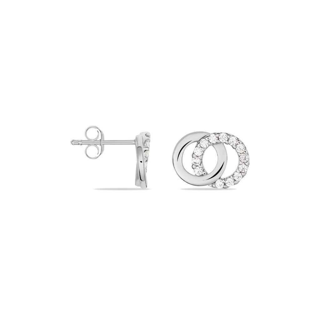 Damen Ohrstecker Silber 925 Zirkonia Kreis - Ohrstecker Damen | Oro Vivo