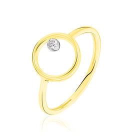 Damenring Gold 750 Diamant 0,045ct  - Ringe mit Edelsteinen  | Oro Vivo