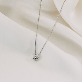Damen Halskette Silber 925 Zirkonia - Ketten mit Anhänger Damen | Oro Vivo