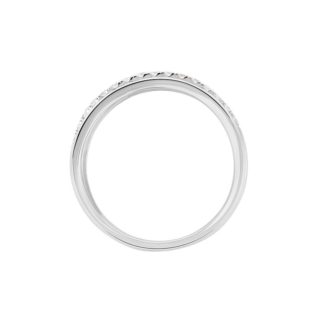 Damenring Weißgold 750 Diamanten 0,179ct - Ringe mit Edelsteinen Damen | Oro Vivo
