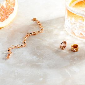 Damen Creolen Edelstahl Rosé Vergoldet Kristall - Creolen Damen | Oro Vivo