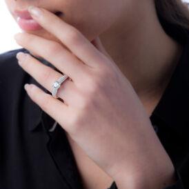 Damenring Silber 925 Rhodiniert Zirkonia - Ringe mit Stein Damen   Oro Vivo