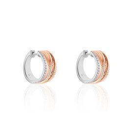 Damen Creolen Gold 750 Bicolor Diamant 0,441ct  - Black Friday Damen   Oro Vivo