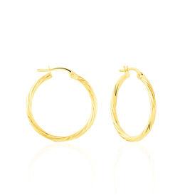 Damen Creolen Gold 375 20mm - Schmuck Damen   Oro Vivo