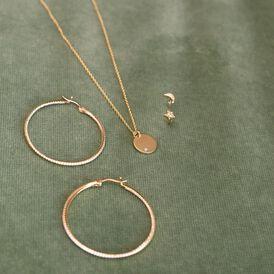 Damen Halskette Silber 925 Vergoldet Zirkonia - Kategorie Damen | Oro Vivo