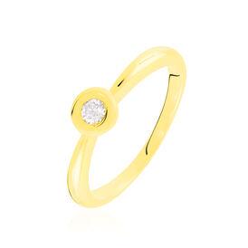 Solitärring Gold 375 Diamant 0,1ct - Ringe mit Edelsteinen Damen | Oro Vivo