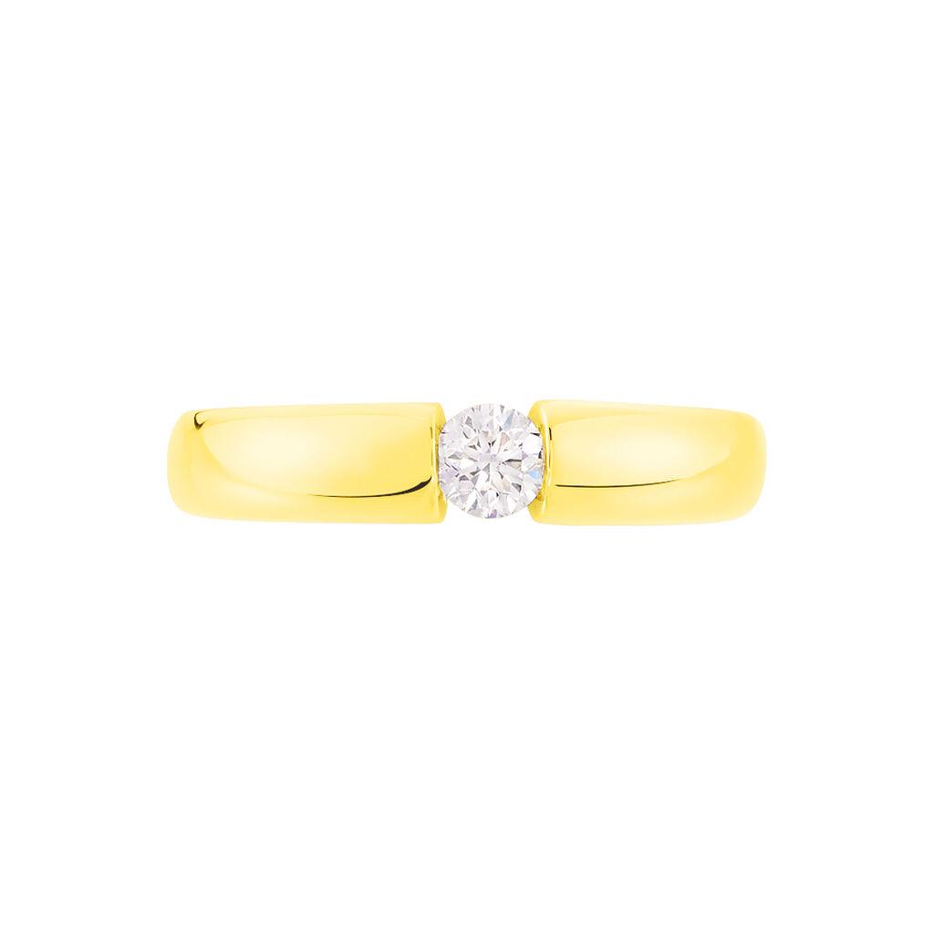 Spannring Gold 750 Diamant 0,2ct - Ringe mit Edelsteinen Damen | Oro Vivo