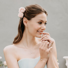 Damenarmband Gold 375 Bicolor Doppel Herz - Armbänder Damen   Oro Vivo