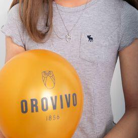 Damen Halskette Silber 925 Strass Eule - Ketten mit Anhänger Damen | Oro Vivo