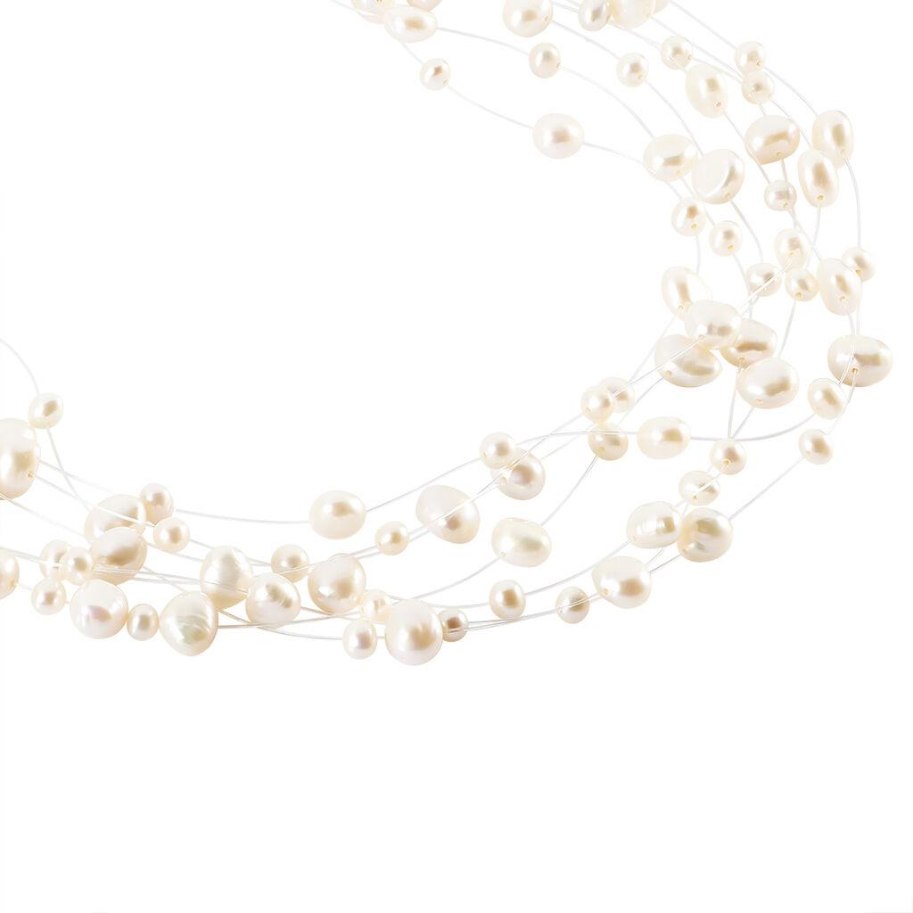 Damen Collier Silber 925 Multicolour Zuchtperlen - Ketten mit Stein Damen | Oro Vivo
