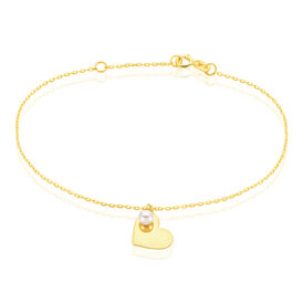 Damenarmband Gold 375 Zuchtperle Herz - Black Friday Damen | Oro Vivo