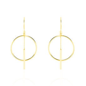 Damen Ohrhänger Lang Gold 375 Kreis -  Damen | Oro Vivo