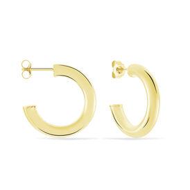 Damen Steckcreolen Silber 925 Vergoldet 25mm - Creolen Damen | Oro Vivo