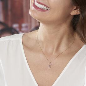 Damen Halskette Gold 375 Diamanten 0,012ct Infinity - Ketten mit Anhänger Damen | Oro Vivo