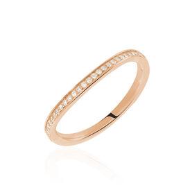 Damenring Roségold 375 Diamant 0,1ct  - Ringe mit Edelsteinen Damen   Oro Vivo