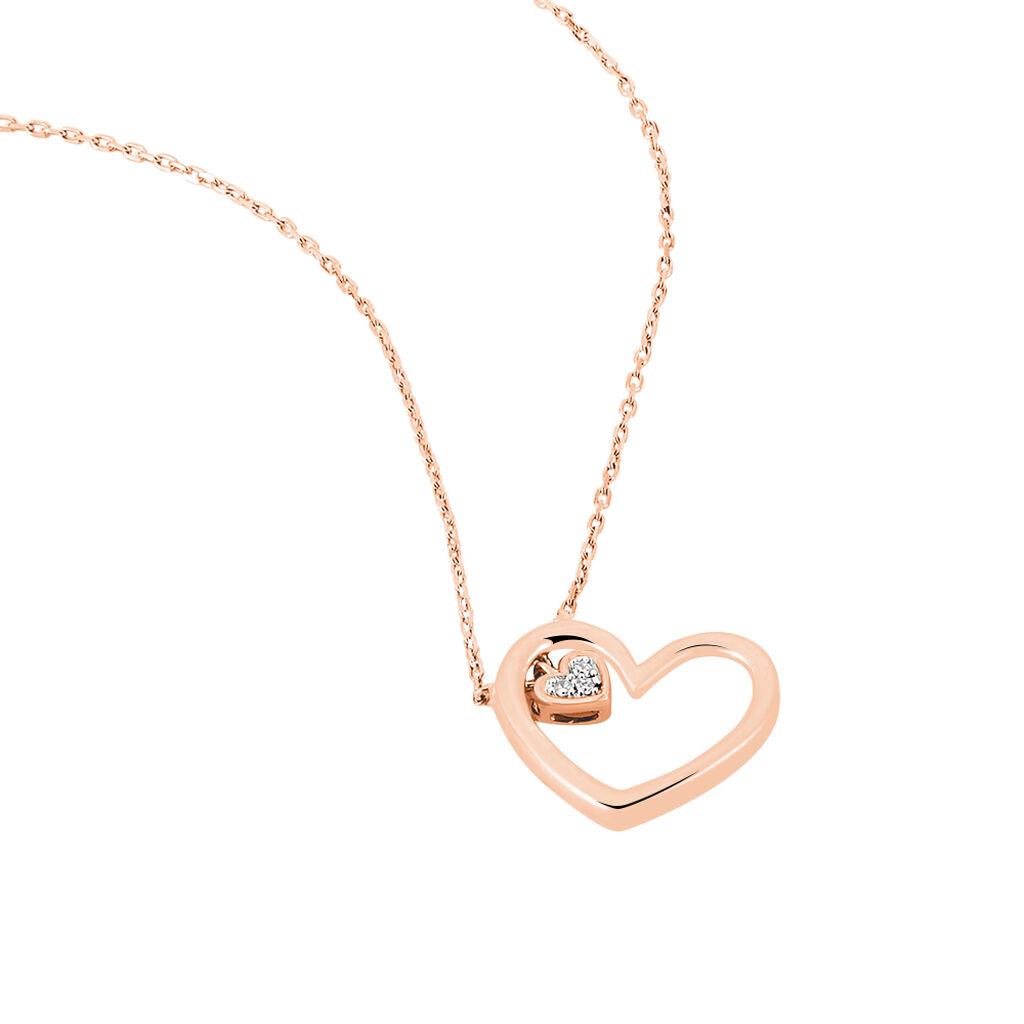Damen Halskette Gold 375 Rosé Vergoldet Diamanten - Kategorie Damen | Oro Vivo