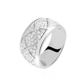 Damenring Silber 925 Glassteine -  Damen   Oro Vivo