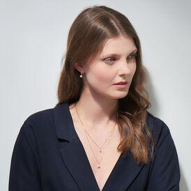 Damen Halskette Gold 375 Zuchtperle 45 cm - Ketten mit Stein Damen | Oro Vivo