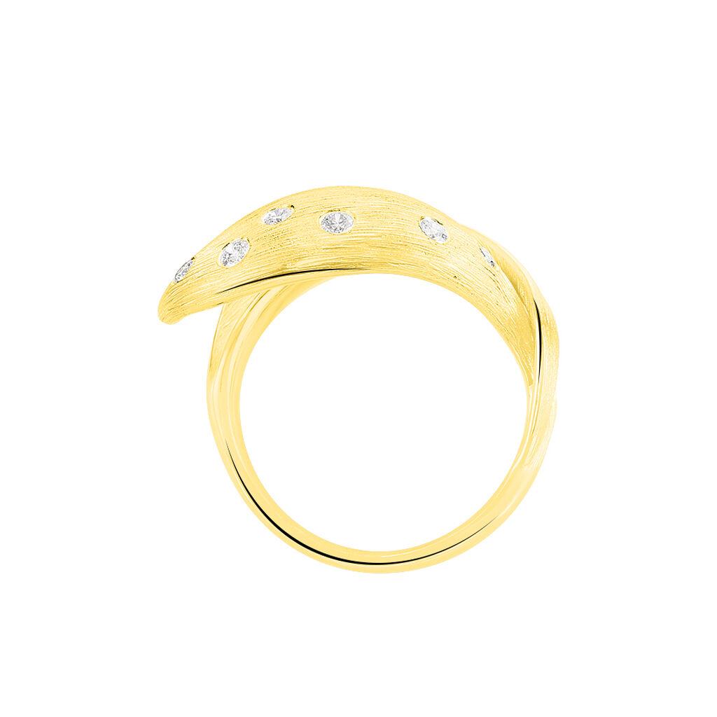 Damenring Gold 750 Diamanten 0,218ct - Ringe mit Edelsteinen Damen | Oro Vivo