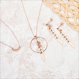 Damen Ohrstecker Lang Silber 925 Rosé Vergoldet  - Ohrstecker lang Damen | Oro Vivo