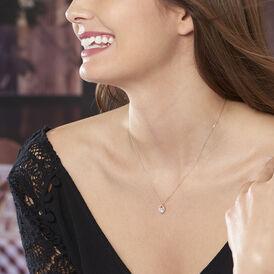 Damen Halskette Gold 375 Zirkonia Herz - Herzketten Damen | Oro Vivo