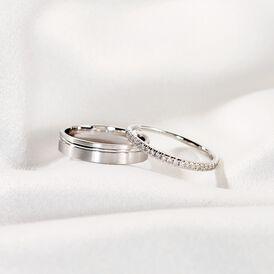 Damenring Weißgold 585 Diamanten 0,18ct - Eheringe Damen | Oro Vivo