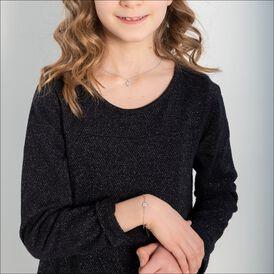 Kinderarmband Silber 925 Zirkonia Klee - Armbänder Kinder   Oro Vivo
