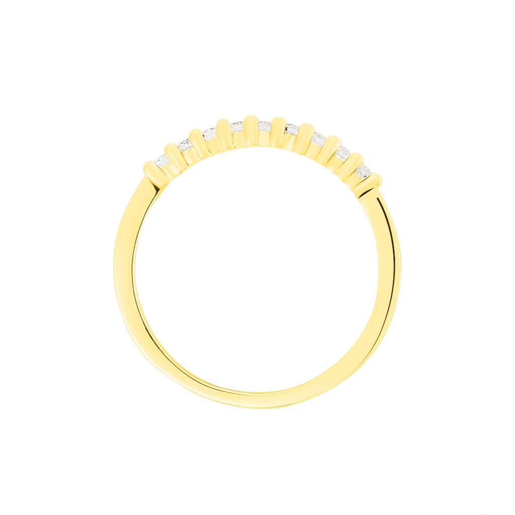 Damenring Gold 585 Diamanten 0,19ct - Eheringe Damen | Oro Vivo